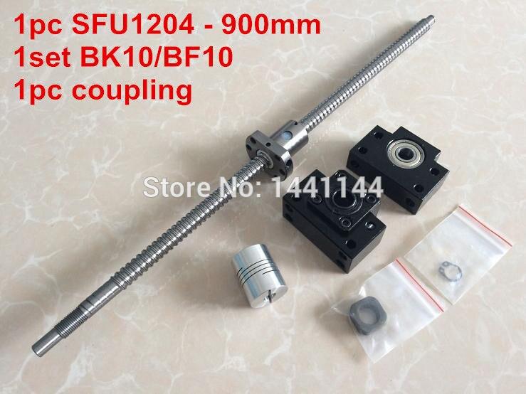 ФОТО 1pcs antibacklash ball screw 1204 - 900mm-C7+ BK/BF10  Support + 1pcs 6.35*8mm coupler