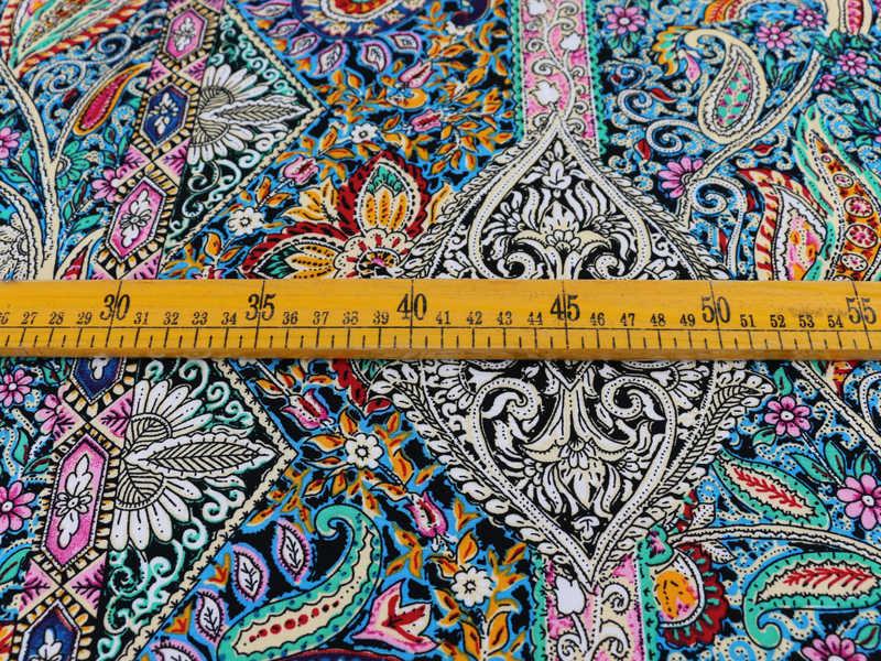 Paisley Ethnische Print Baumwolle Stoff Patchwork Nähen Rayon Popeline Für Bohemian Kleid