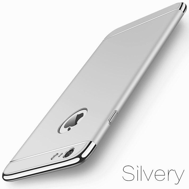 image-4-Coque téléphone Ultra Mince rigide-luxe-pour iPhone-argent-doré