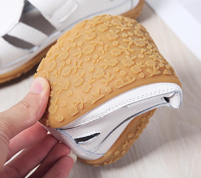 HTB14rvFLpzqK1RjSZFoq6zfcXXa7 2019 Women Gladiator Sandals Shoes Genuine Leather Hollow Flat Sandals Ladies Casual Soft Bottom Summer Shoes Women Beach Sandal