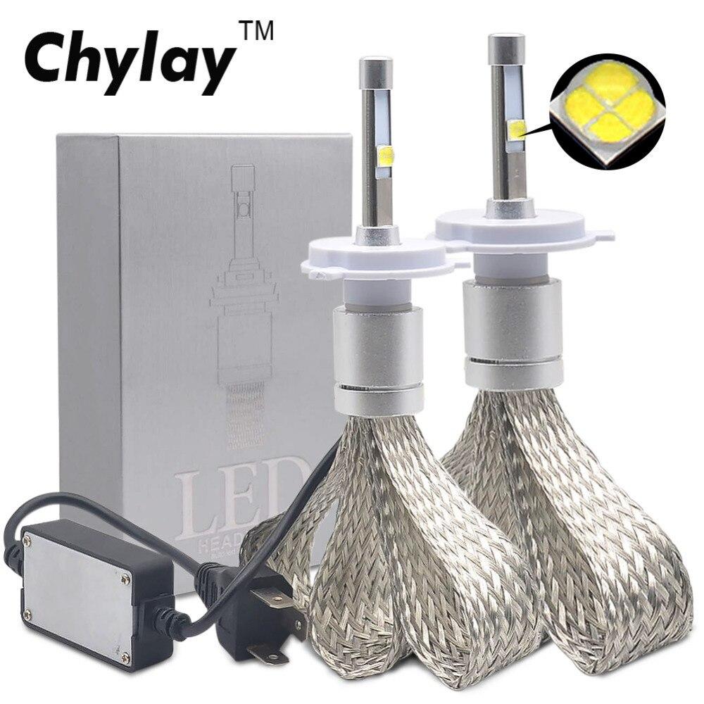 2 pièces H7 LED H1 H4 H11 Voiture Phare Ampoule R3 9600lm avec Lentille Mini H3 HB4 H8 HB3 9005 9006 LED Antibrouillard 6000 K Blanc lumières de voiture