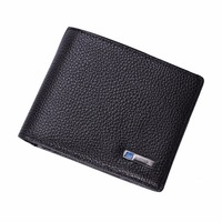 SMARTLB Men Genuine Leather Bluetooth Smart Wallet with Androd/iOS APP Safe Wallet Security Smart Tracking Anti lost Purse