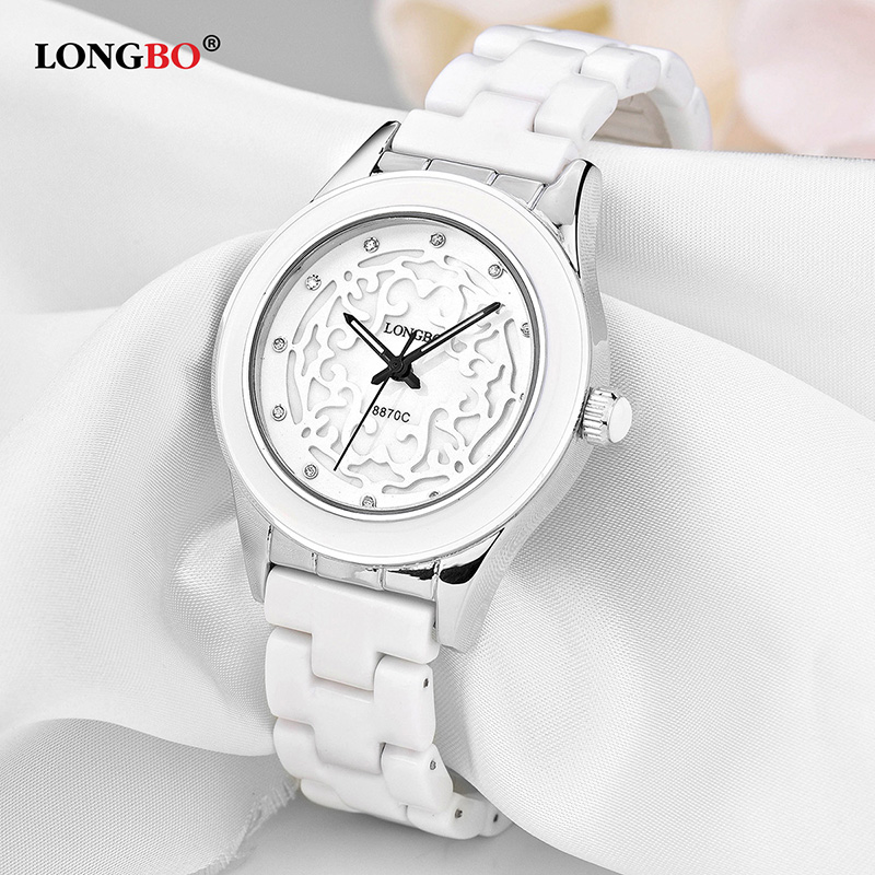 LONGBO Reloj Mujer Women Ceramic Watch Casual Waterproof Couple Watches Fashion Lovers Quartz Wristwatches Female Male Gift 8870 потребительские товары lucky faux 2015 reloj couple watch