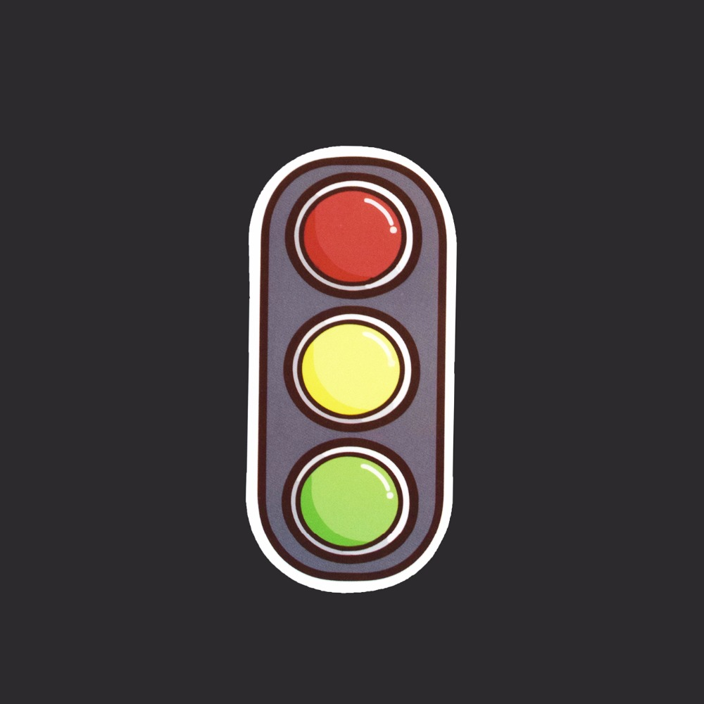 Traffic Light Single Tide Brand Sticker Doodle DIY Waterproof Decals Paper Posted Skateboard Stickers Graffiti A-22