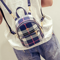 2016 New hot Multifunctional summer England Plaid women backpack sweet lady backpack Mini fashion shoulder bag small Korea bag