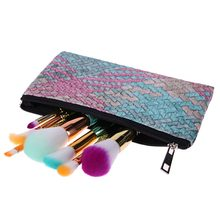 Cosmetic Makeup Brush Bag Portable Artist Brushes Case Holder Organizer Pouch Pocket Beauty Make Up Tool With Zipper(China)