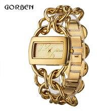 Mode D'or/Argent Quartz Bracelet Montre Femmes reloje mujer De Luxe Complet En Acier Inoxydable Dames Robe Montre Relogio Feminino