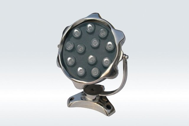 9*1WLED Underwater Light;DMX512 compatible;DC12V input;IP68;Stainless steel housing;RGB;P/N:FST-HFL-W9L-04