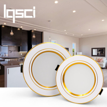 Lqsci светодиодный потолочный светильник серебристого цвета 5 Вт 9 Вт 12 Вт 15 Вт 18 Вт теплый белый/холодный белый светодиодный светильник AC 220 В 230 в 240 В