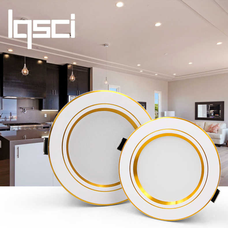 Lqsci LED Downlight Ceiling silvery 5W  9W 12W 15W 18W Warm white/cold white led light AC 220V 230V 240V