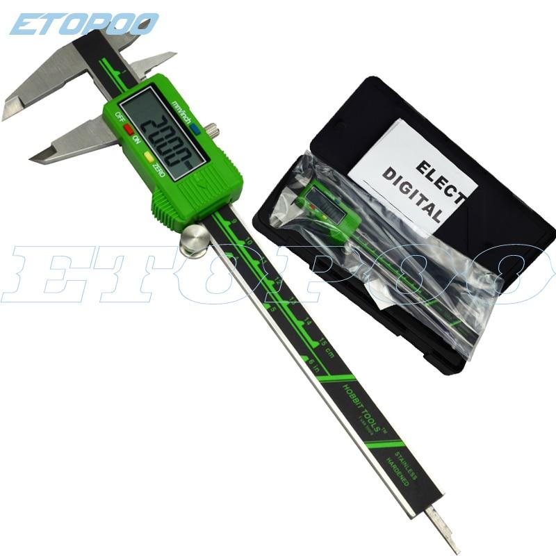 """6 """"/150mm Grote Lcd-scherm Soepel Glijdende Duurzaam Rvs Digitale Schuifmaat Elektronische Meetinstrument Micrometer Gauge"""