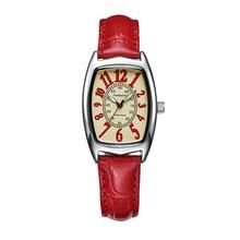 2016 Моды Роскошь Лучший Бренд Дамы Кварцевые Часы Женщины Одеваются Случайные Кожа Часы Женщины relógio feminino