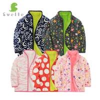 Svelte Brand Autumn And Winter Kids Fur Coats Boys Zipper Solid Kids Jackets Fashion Thick Fleece