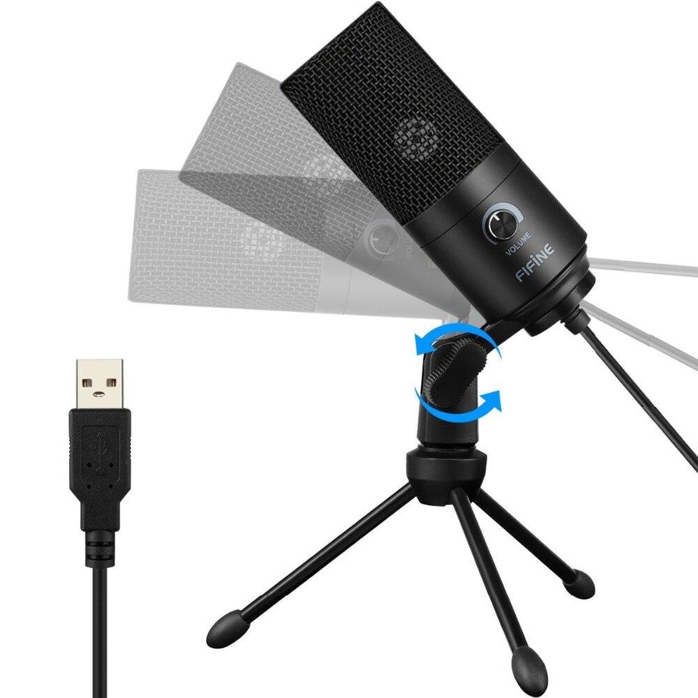 Microphone d'enregistrement à condensateur USB en métal Fifine pour ordinateur portable MAC ou Windows - 5