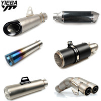 Universal 36 51MM Motorcycle Exhaust Pipe Modified Exhaust Pipe for BMW R1200S R1200ST HP2 SPORT S1000R S1000RR C600SPORT F800R