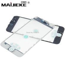 Haut AAA + MAIJIEKE presse à froid 3 en 1 écran avant verre + cadre OCA remplacement pour iphone 6 6s 7 8 plus Anti poussière Earmesh