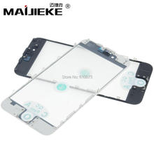 Top aaa + maijieke 콜드 프레스 3 in 1 스크린 전면 유리 + 프레임 oca 교체 용 iphone 6 6s 7 8 plus anti dust earmesh