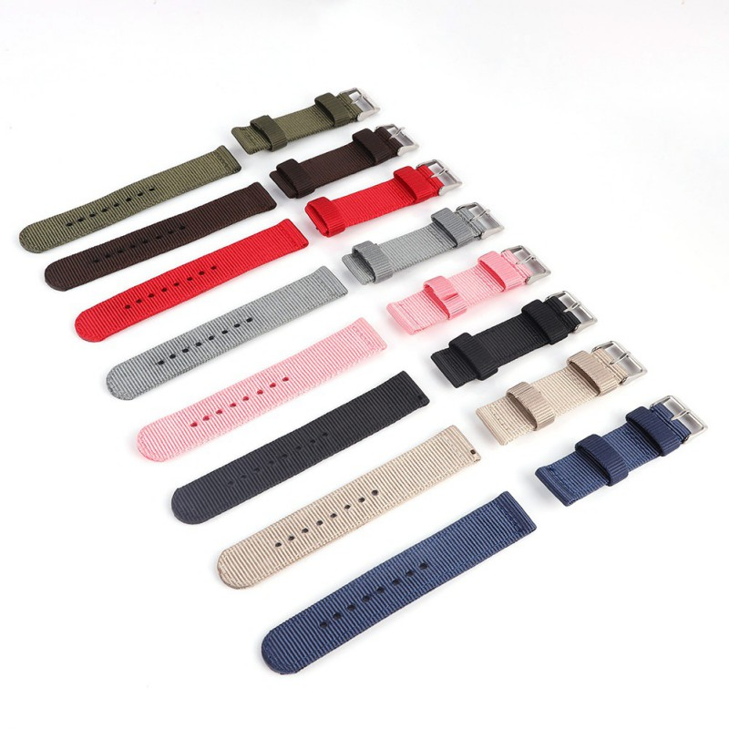 Watch Strap Nylon Mesh Watch Bands Women Men Black Sport Watches Belt Accessories Relojes Hombre 18mm 20mm 22mm 24mm Canva цена