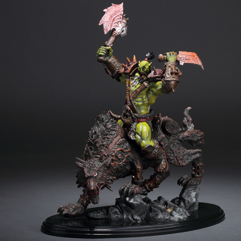 Wow Raider Riding Wolf Orcus Action Figure Statue Toy Anime Figure Collectible Model Toy Doll Robot Figure Kit Block 1