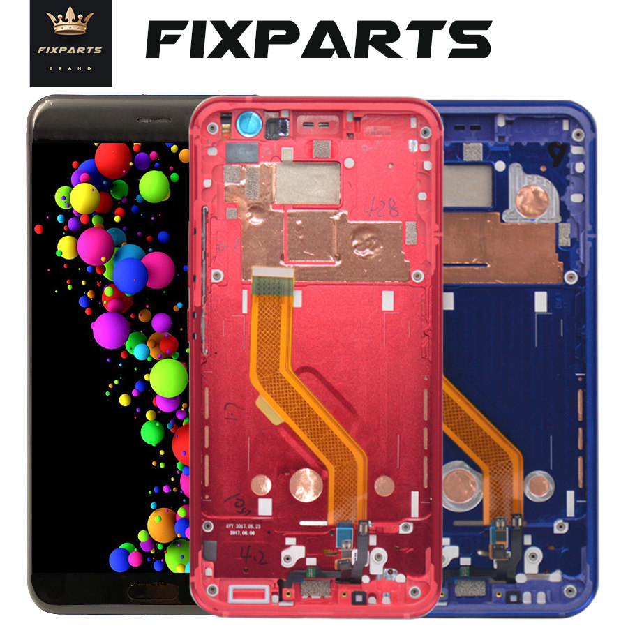 100% Testato Per HTC U11 Display LCD Touch Screen Digitizer Assembly Parti di Ricambio 2560*1440 Per 5.5