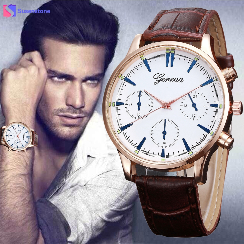 где купить 2017 New Arrival Men Watch Analog Quartz Leather Band Man Wristwatch Simple Design Casual Dress Watches relogio masculino по лучшей цене