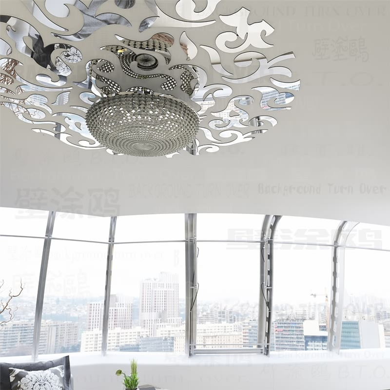 Kreative europeiske stil akryl talje linje tak klistremerker vintage vegg klistremerke hjem dekor for huset soverom stue R236