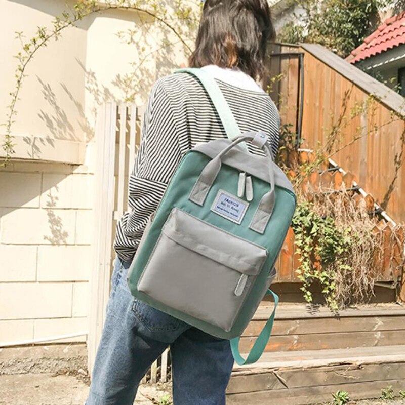 HTB14rwQKf9TBuNjy0Fcq6zeiFXaK Yogodlns Campus Women Backpack School Bag for Teenagers College Canvas Female Bagpack 15inch Laptop Back Packs Bolsas Mochila