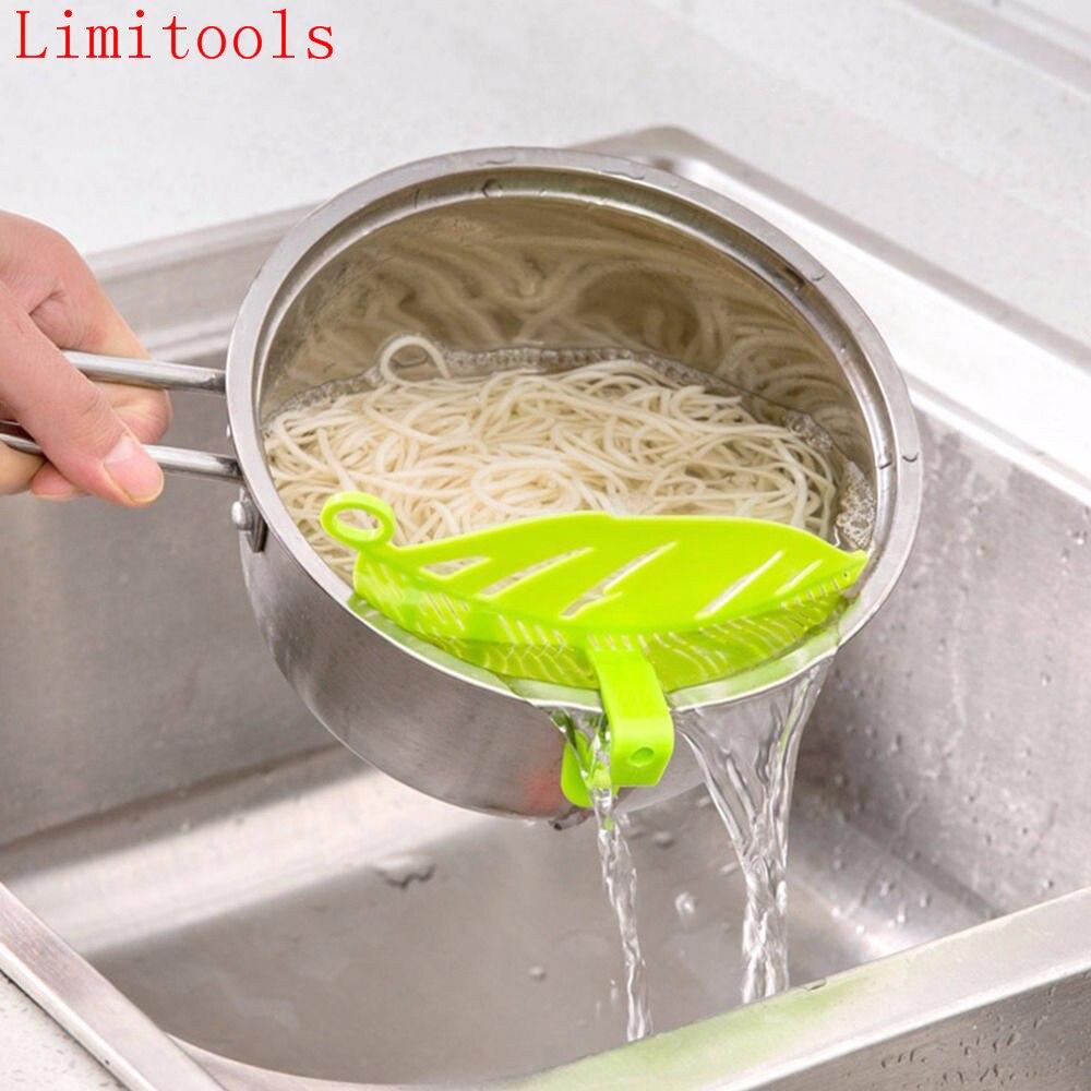 LIMITOOLS 1 PC Feuille Forme Durable Propre Laver Le Riz Tamis Haricots Pois gadget de nettoyage Cuisine Clips Fruits et Légumes Outil Livraison le bateau