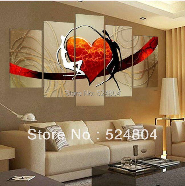 Decorative Wall Paintings Bedroom Decor Painting Sweethearts Love Each Other By Heart Great Eternal Ops00006 In Calligraphy From Home
