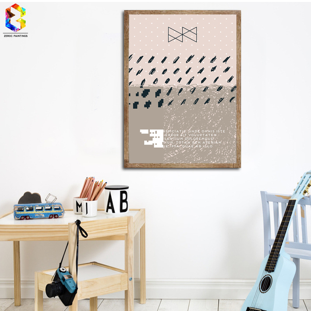 Zeroc Nordic Home Accessories Canvas Art Print Poster Wall Painting