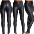 Women Sexy Fashion Faux Leather Tight Pants High Waisted Full Length Trousers