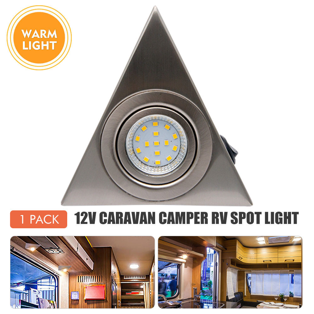 12V Interior LED Spot Light Cabinet Warm Light For Camper Van Caravan Motorhome