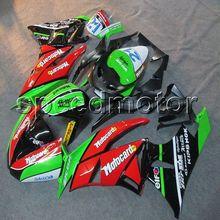 Parafusos + NOVO artigo do molde de Injeção tampa da motocicleta ZX-6R ZX6R 09-12 verde vermelho 2009 2010 2011 2012 ABS carenagem para Kawasaki