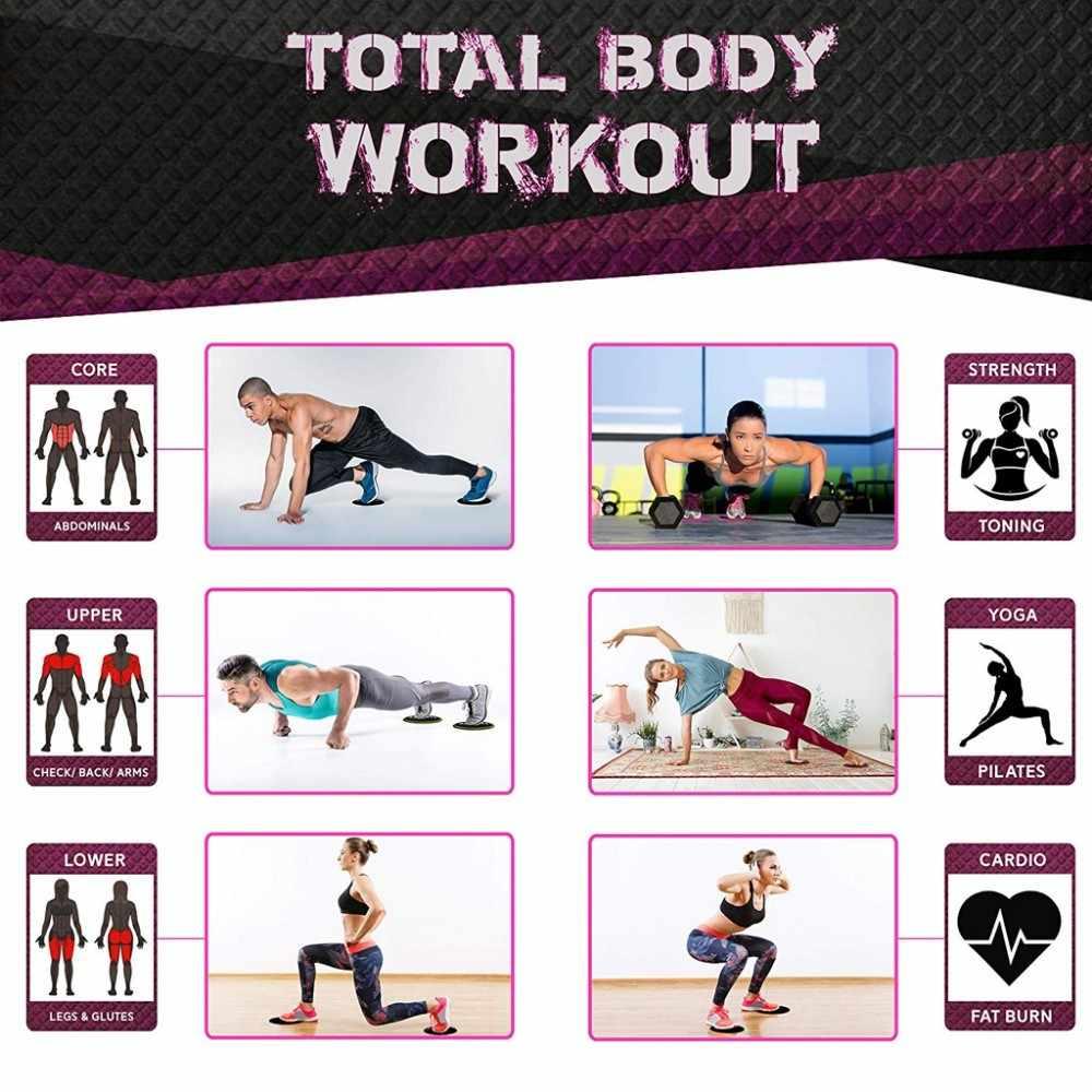 Стоящий 1 комплект тренажерный зал фитнес Core ползунки шестерни на ковре деревянный пол домашнее оборудование для тренировки мышц живота тренировки аксессуары