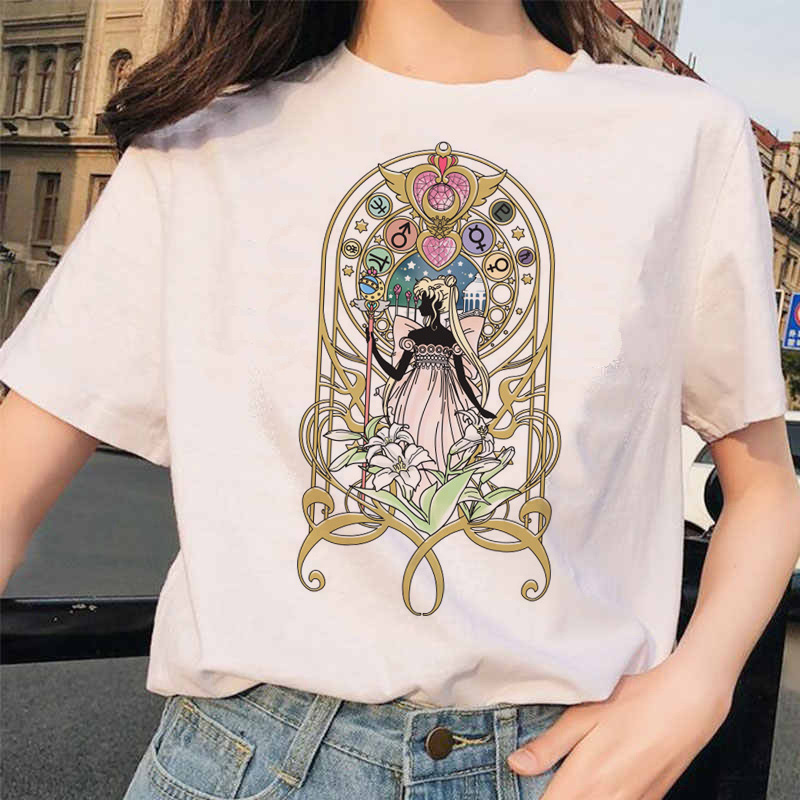 Sailor Moon printed short sleeves