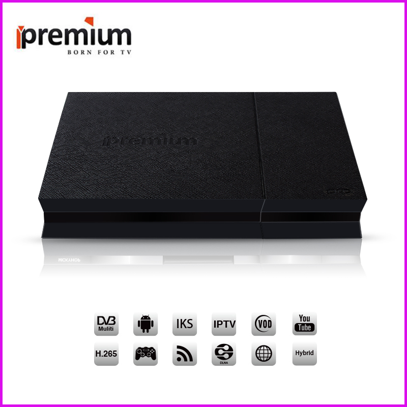 Ipremium I9 Pro 4K Android Tv Box Set Top Box Decoder Receptor With DVB-S2 DVB-T2 DVB-C Functions