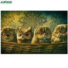 Baby owl of diamond Mosaic Picture Pattern Cross Stitch Rhinestone Diy Diamond Paintings Embroidery painting bb1582