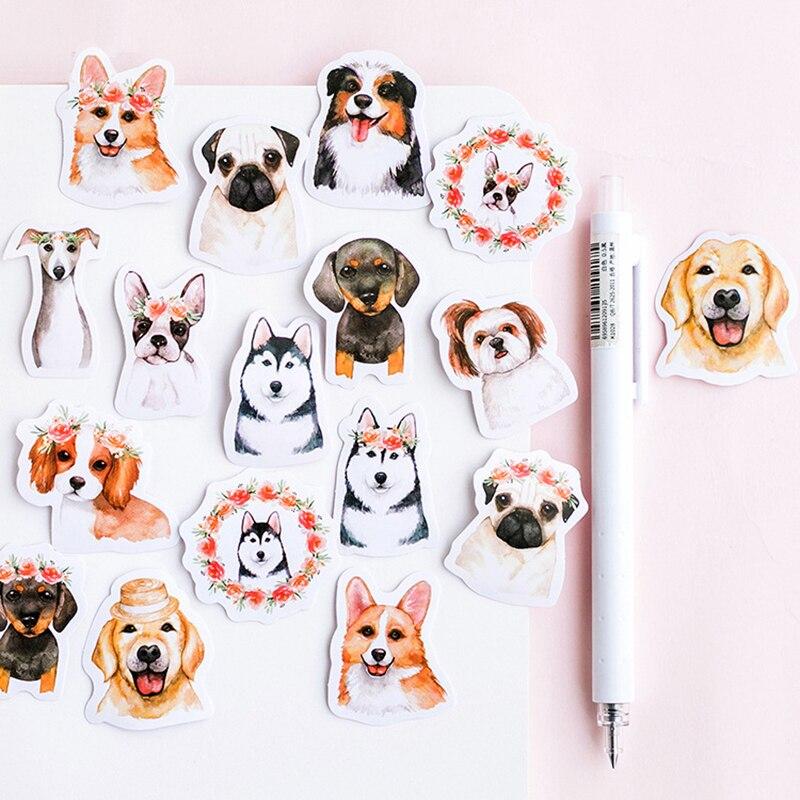 46 Pcs/lot Cute Dog Animal Sticker Decoration DIY Scrapbooking Sticker Stationery Kawaii Diary Label Sticker