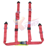 Xpower Universal 4PT 4 Point Racing Seat Belt Safety Harness1 85inch