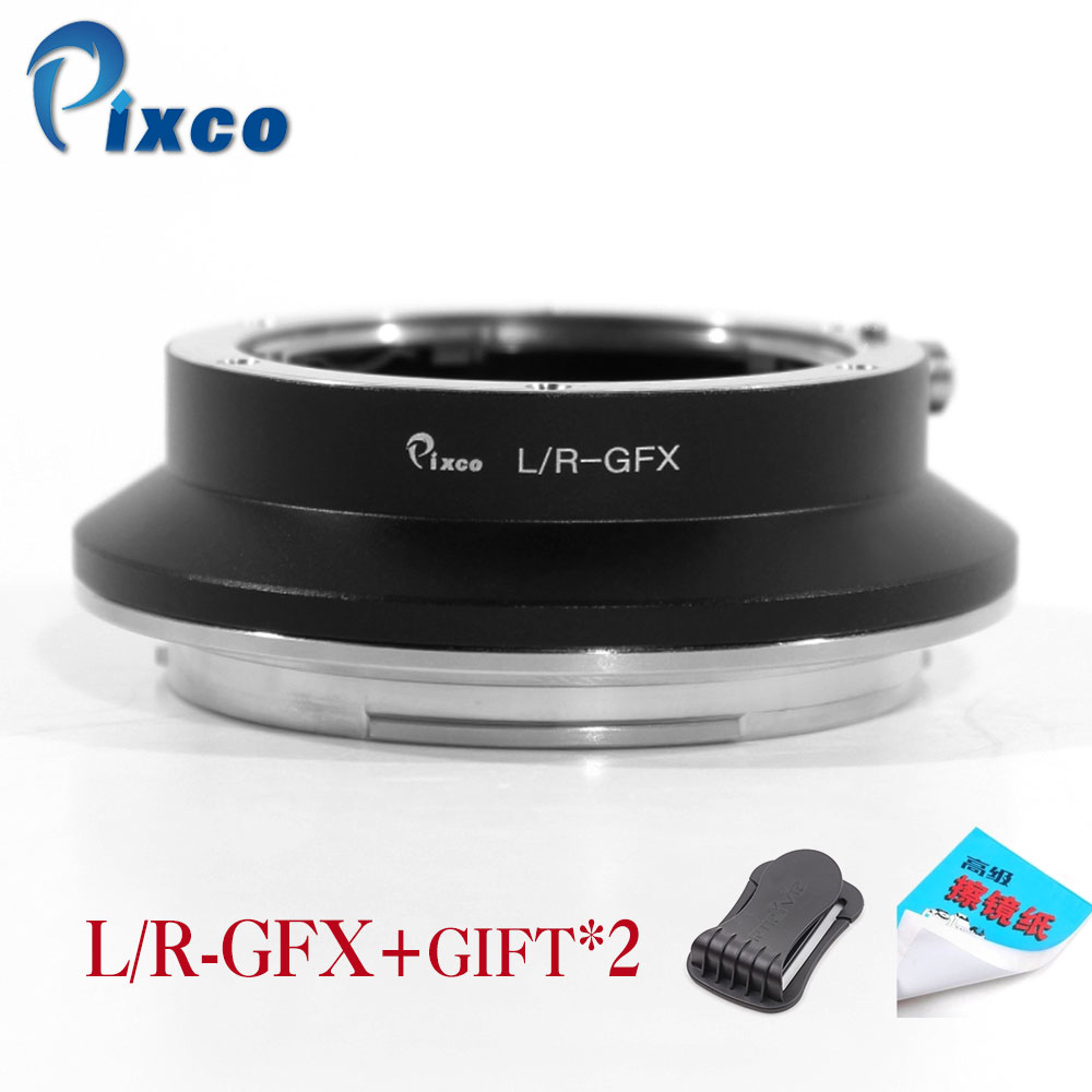 Pixco L/R-GFX adaptateur d'objectif pour objectif de montage Leica R adapté à l'appareil photo numérique sans miroir Fuji g-mount GFX tel que GFX 50 S