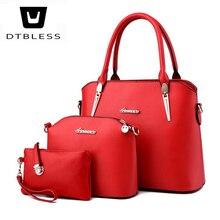 Фотография DTBLESS 2018 3 Sets handbag women composite bag female large capacity tote bag fashion shoulder crossbody Composite Bag D8134-1