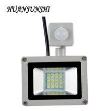 Светодиодный PIR датчик движения Регулируемый прожектор 10W20W водонепроницаемый IP65 220V Прожектор садовый прожектор наружный настенный светильник прожектор