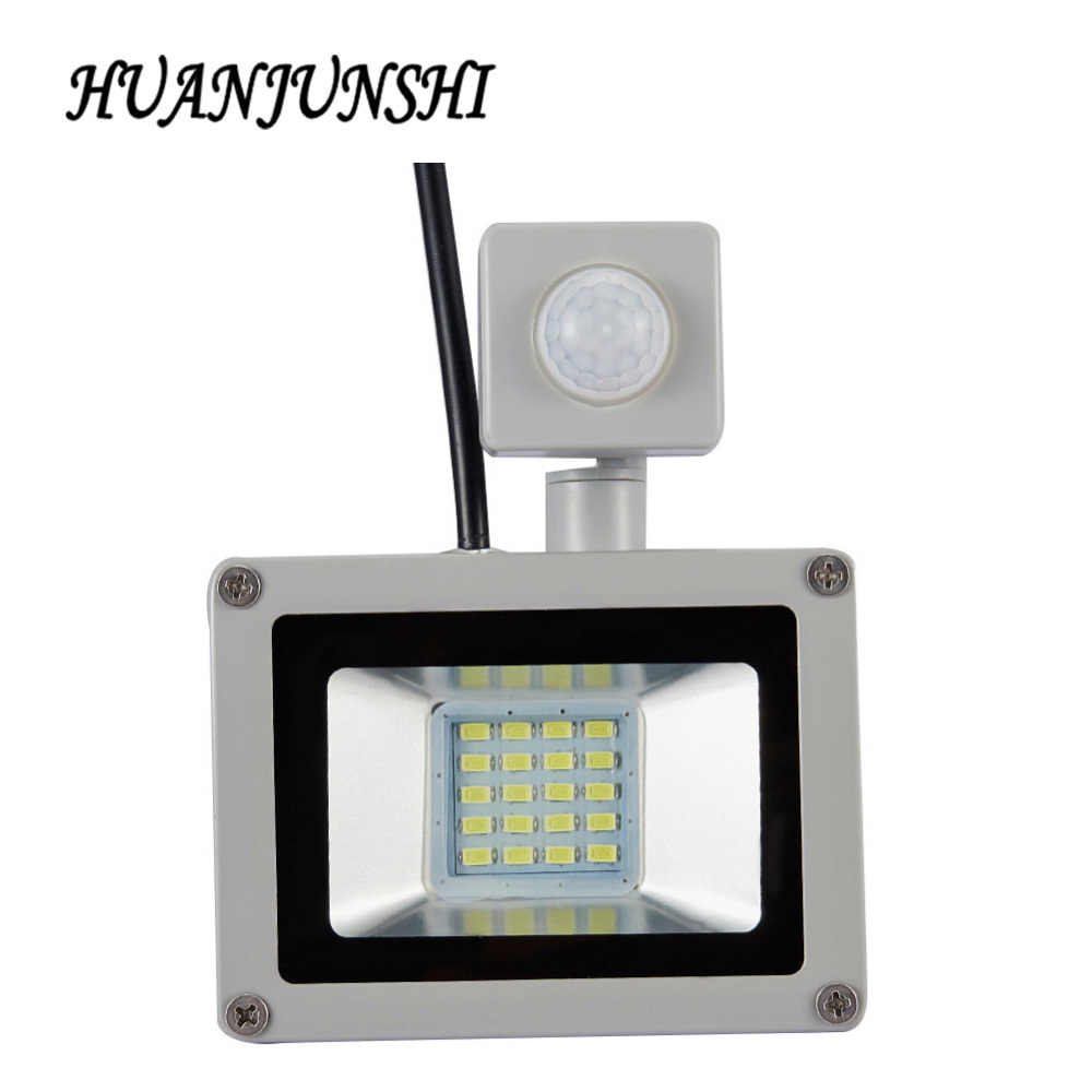 LED PIR Motion Sensor Adjustable Floodlight 10W20W Waterproof IP65 220V Floodlight Garden Spotlight Outdoor Wall Lamp Spotlight