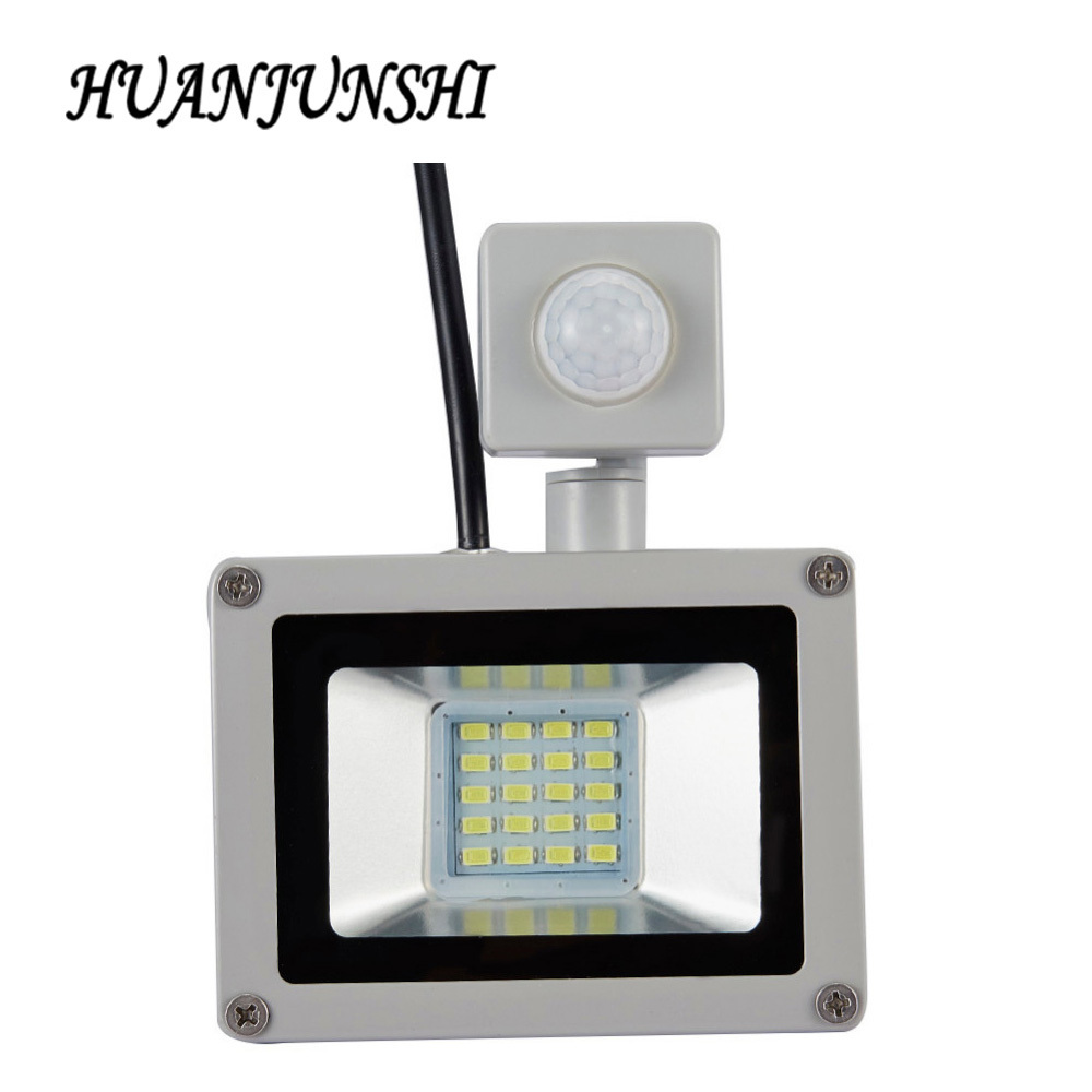 LED PIR Bewegingssensor Verstelbare Floodlight 10W20W Waterdichte IP65 220V Floodlight Tuin Spotlight Outdoor Wandlamp Spotlight