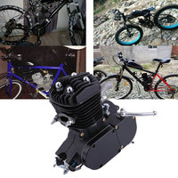 Изысканный 2 ход 80cc цикл комплект двигателя газа идеально подходит для моторизованные велосипеды цикл велосипеды черный