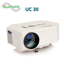 ByJoTeCH UC30 HD mini LED projector / Native 640X480 / Support HDMI / Three Glasses lenses/ 150 lumens With Remote Controller