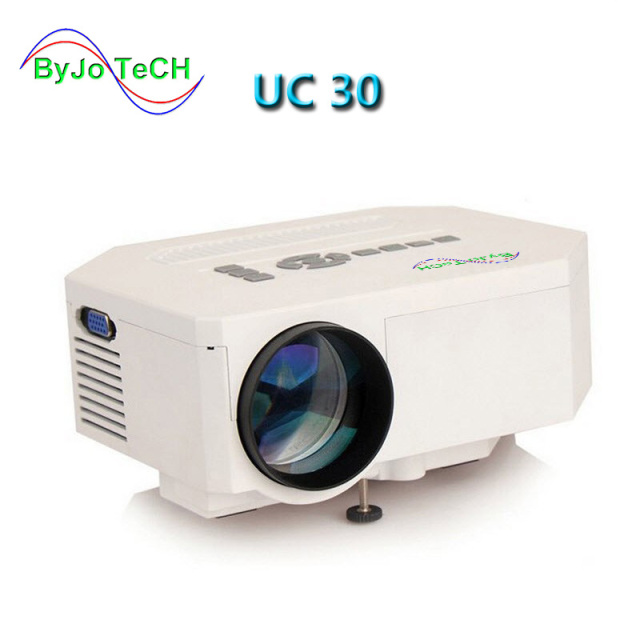 Best Offers ByJoTeCH UC30 HD mini LED projector / Native 640X480 / Support HDMI / Three Glasses lenses/ 150 lumens With Remote Controller