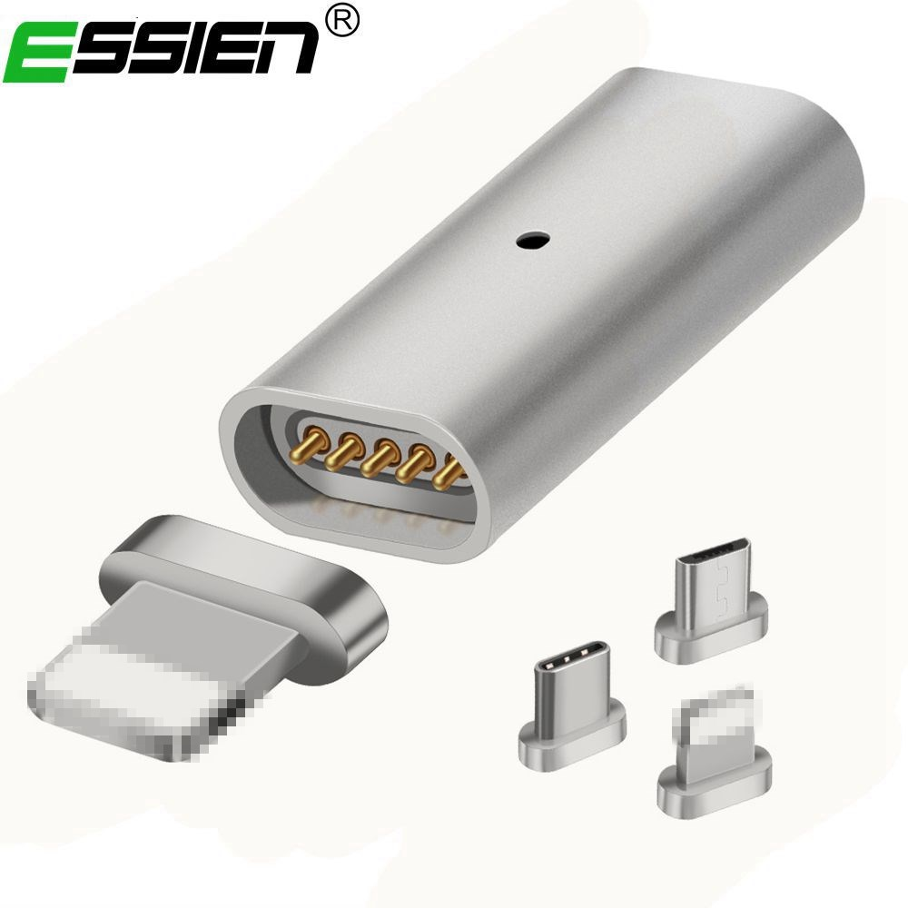 Essien For Android Charger Micro USB Charging Cable Metal Plug Magnetic Adapter Data Charger Convert For Samsung S6 S7 Edge HTC