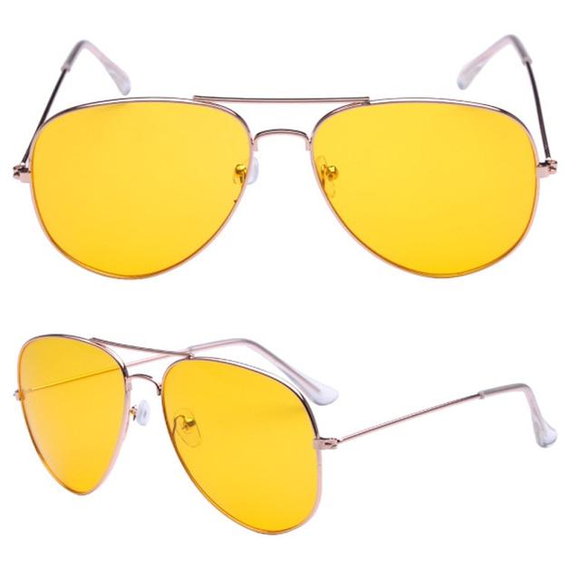 5fe961a8722 Polarized Sunglasses Men Women Driving Glasses Goggles Driver Aviation  Yellow Sun Glasses UV400 yellow color Night Vision