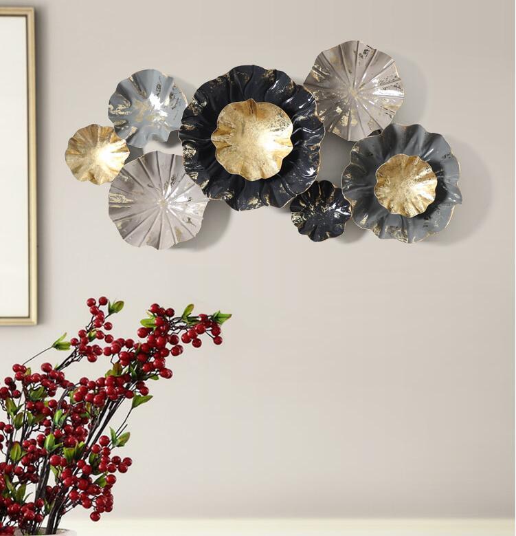 اكسسوارات جدارية نبات ورق اللوتس اكسسوارات جدارية